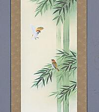 Kakejiku (Japanese Hanging Scroll) Bamboo (B) - with paulownia wood box