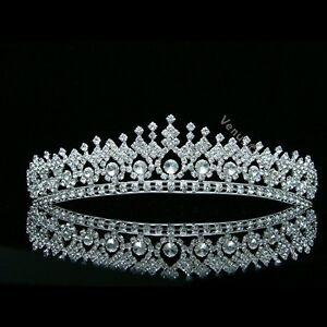 Gorgeous Bridal Pageant Rhinestone Crystal Prom Wedding Crown Tiara 8506