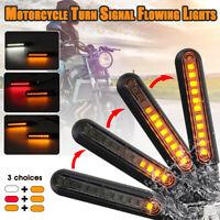 2x LED Motorcycle Turn Signal Flowing Light Lamps Indicators Motorbike Beach Car