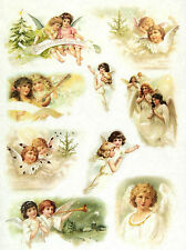 Carta di riso Vintage Angels Decoupage Scrapbook Foglio Craft