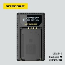 NITECORE ULM240 Bp-scl2 Single Slot USB Leica Battery Charger With LCD - Black