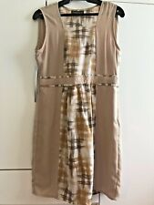 SALE! Sleeveless Dress Beige Ladies Womens Geometric