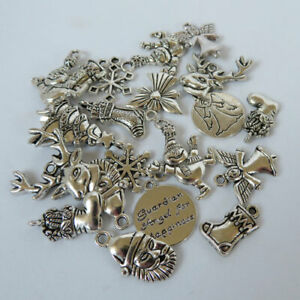 Christmas charm mix - jewellery making/christmas crafts pack of 20 or 100 pieces
