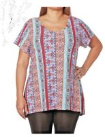 NWT Plus Size 2x Strappy Back Colorful Shirt Top Blouse Tunic Summer