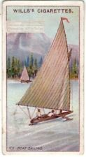 Ice Boat Sailing St. Lawrence River Canada 100+ Y/O Trade Ad Card