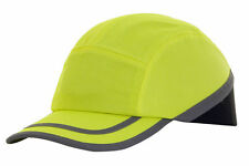 10 x B-BRAND SAFETY BASEBALL CAP BUMP HARD HAT YELLOW FOR HEAD SAFETY