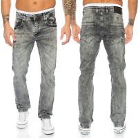 Rock Creek Herren Jeans Denim Vintage Grau Stretch-Jeans Hose Basic LL-312