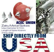 Metal Detail Up 3 x Zaku Spikes MS1 For Bandai MG 1/100 Gundam - U.S.A. SELLER