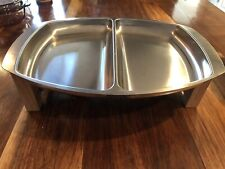 Kalmar Designs Denmark Mid Century Stainless Chafing Dish With Teak Base