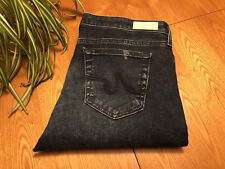 WOMENS AG ADRIANO GOLDSCHMIED LEGGING ANKLE JEANS 33 X 28.5 DESTROYED NWOT NICE!