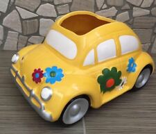 Ceramic Hippie Love Bug Car / VW - Planter/Brand New