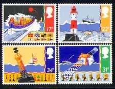 GB 1985 Lifeboat/Lighthouse/Satellite/Boats 4v (n28240)