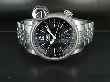 42mm JUMBO SWISS Oris Flight Timer auto date day GMT SS bracelet dressing watch