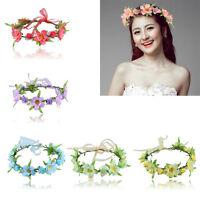 Boho Crown Flower Festival Headband Garland Floral Wedding Spring Hairband Decor