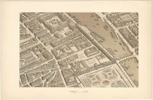 18th Century Paris Architecture - Three 19th Century French Lithograph Prints