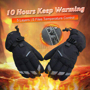 3600mAh Winter USB Rechargeable Electric Heated Gloves Warmer Hand
