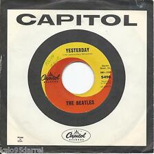 BEATLES * 45 * Yesterday / Act Naturally * 1960s * w/ USA ORIGNAL Capitol Sleeve