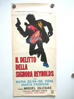 VINTAGE CANVAS ITALIAN MOVIE POSTER THE CRIME OF MRS REYNOLDS 1970 DECORATOR PC