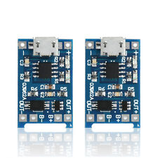 Lots 2PCS 5V Micro USB 1A 18650 Lithium Battery Charging Board Charger Module