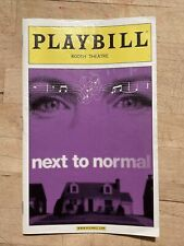 NEXT TO NORMAL Aug 2010 Broadway COLOR Playbill!MARIN MAZZIE, Jason Danieley +!