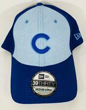 """""""NEW"""" Chicago Cubs New Era Light Blue 2018 39THIRTY Flex Hat M/L"""