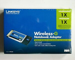 Linksys Wireless-G Notebook Adapter WPC54G Cisco New Sealed Box Wifi Certified