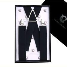 Men's Black X3.5cm Extra Large Braces Suspenders Mens