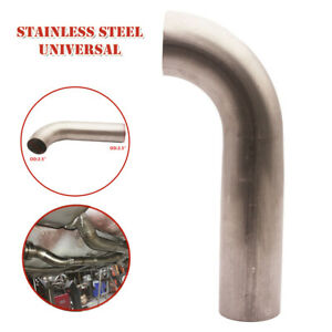 "2.5"" 2-1/2"" Short 90° 304 Stainless Steel Mandrel Bend Pipe Exhaust 16GA Parts"