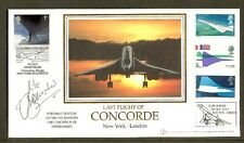CONCORDE - 2003 dernier vol New York à Londres piloté couverture signée mike bannister
