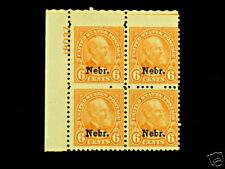 675 NEBRASKA Garfield 6cent MNH PlateBlock NICE CV$750