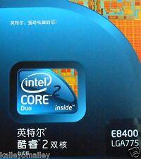 Intel Core 2 Duo E8400 3GHz Dual-Core (BX80570E8400) Processor