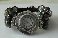 Shamballa Czech White Crystal Bracelet Watch - FREE Matching Bracelet Value $15