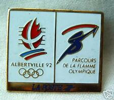 OLYMPIC pin-button Albertville 1992 Flamme Olympique