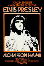 1970's Rock & Roll : Elvis Presley * Aloha Hawaii * Promotional Poster  1973