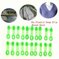 10Pcs Plastic Snap Clip Punch Card For Brother SReed Knitting Machine Tool DE