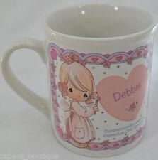 Precious Moments 1994 Debbie Name Mug Enesco Fine Ceramic Coffee Tea Cup Vtg