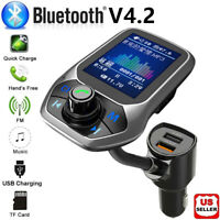 Bluetooth Car FM Transmitter MP3 Player Hands-free Radio Adapter Kit USB Charger