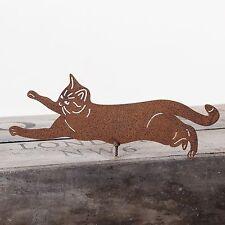 RUSTY metallo Arrampicata Gatto Wall Art Per Giardino Recinto, capannone o PERGOLA
