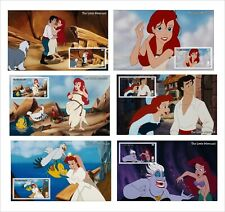 DISNEY LITTLE MERMAID 14 SOUVENIR SHEETS animation cartoons