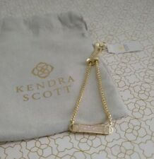 Kendra Scott Stan Gold Adjustable Chain Bracelet in Iridescent DRUSY