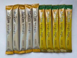Korea Maxim 3 in 1 Instant Mix Coffee Mocha Gold and White Gold Coffee6 sticks
