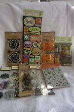 Scrapbook HAPPY HALLOWEEN SPIDER WEBS Sticker Jolee 3-D LOT *60/% OFF /& FREEShip