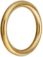 "Stanley National Hardware 3156BC 1-1/4"" Ring in Solid Brass"