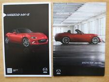 MAZDA MX-5 orig 2015 UK Mkt Sales Brochure + Price Guide - MX5