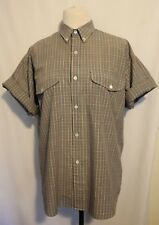 SPORTSCRAFT ~ 80'S Vintage Mens Navy Green Red Yellow Check S/S Casual Shirt M