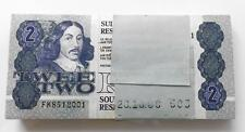 South Africa Two Rand Bundle of 100 UNC banknotes G. De Kock FK7412001-2100