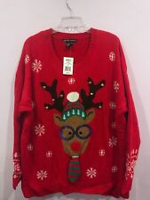 United States Sweaters Women's Snowman Holiday Christmas Snowflake Plus Size 3X