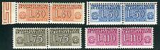 1953 Italia Repubblica Pacchi in concessione ruota 4 valori ** MNH spl