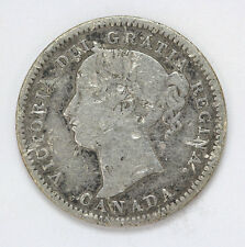 1900 Canada Silver - 10 Cents Victorian Km3 - G #01274768g
