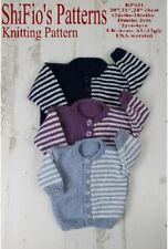 Knitting Pattern childs cardigan in Aran, 3 sizes #441 NOT CLOTHES
